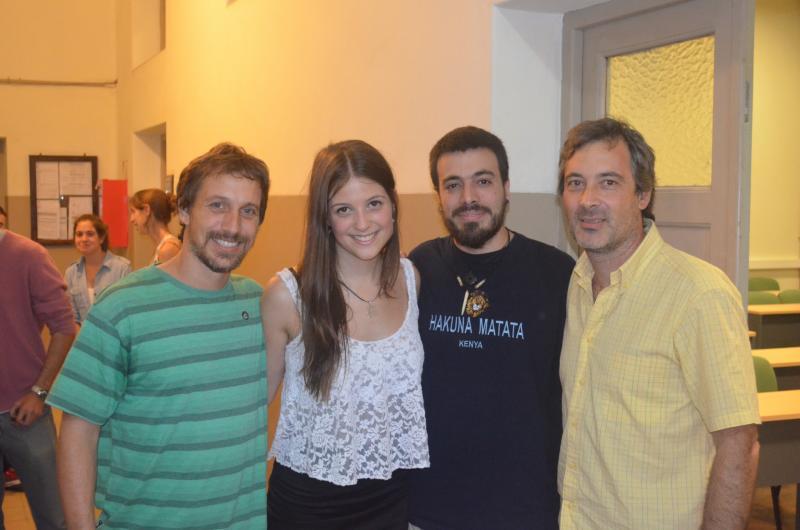 (2015) - Fabricio, Marina, Nicolas and Hernán at Marina's bachelor thesis defense